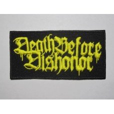 DEATH BEFORE DISHONOR patch embroidered
