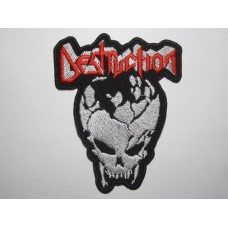 DESTRUCTION patch embroidered