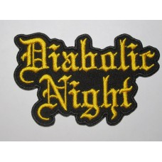 DIABOLIC NIGHT patch embroidered