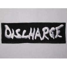 DISCHARGE patch embroidered