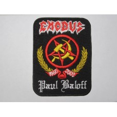 EXODUS patch Paul Baloff embroidered