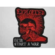 The EXPLOITED patch embroidered