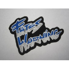 FATES WARNING patch embroidered