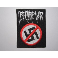 I DECLARE WAR patch embroidered