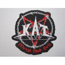 KAT patch embroidered Metal And Hell
