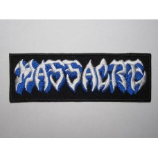 MASSACRE patch embroidered