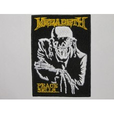 MEGADETH patch embroidered Peace Sells
