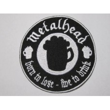 METALHEAD patch embroidered