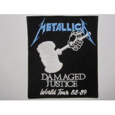 METALLICA patch embroidered Damaged Justice