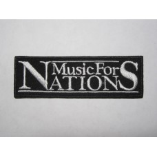 MUSIC FOR NATIONS patch embroidered