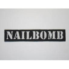 NAILBOMB patch embroidered