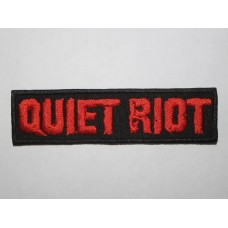 QUIET RIOT patch embroidered