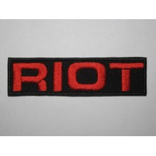 RIOT patch embroidered