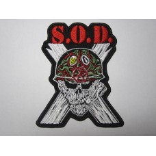 S.O.D. patch embroidered sod