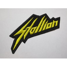 STALLION patch embroidered