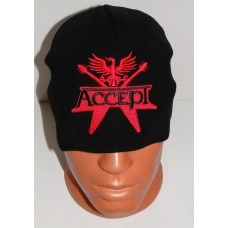 ACCEPT beanie hat embroidered logo