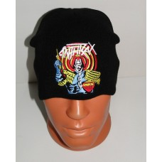 ANTHRAX beanie hat embroidered logo