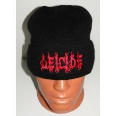 DEICIDE beanie hat cuffed embroidered logo