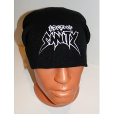 EDGE OF SANITY beanie hat embroidered logo