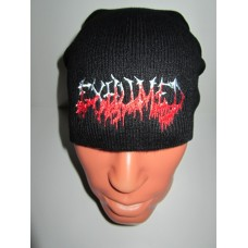 EXHUMED beanie hat embroidered logo