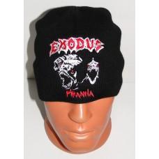 EXODUS Piranha beanie hat embroidered logo