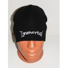 IMMORTAL beanie hat embroidered logo