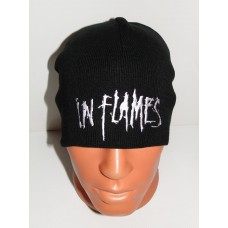 IN FLAMES beanie hat embroidered logo