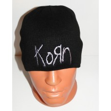 KORN beanie hat embroidered logo