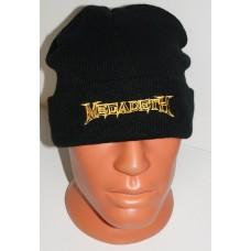 MEGADETH beanie hat cuffed embroidered logo