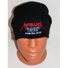 METALLICA beanie hat Damaged Justice embroidered logo