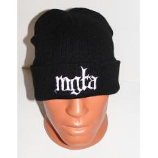 MGLA beanie hat cuffed embroidered logo