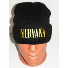 NIRVANA beanie hat cuffed embroidered logo