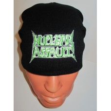 NUCLEAR ASSAULT beanie hat embroidered logo