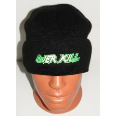 OVERKILL beanie hat cuffed embroidered logo