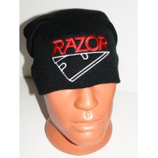 RAZOR beanie hat embroidered logo