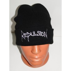 REPULSION beanie hat cuffed embroidered logo