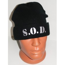 S.O.D. beanie hat cuffed embroidered logo