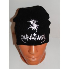 SEPULTURA beanie hat embroidered logo