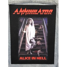 ANNIHILATOR back patch printed Alice In Hell