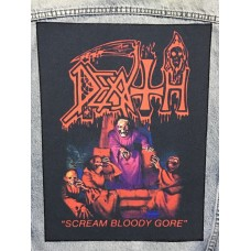 DEATH back patch printed Scream Bloody Gore