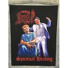 DEATH back patch printed Spiritual Healing