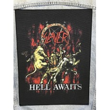 SLAYER back patch printed Hell Awaits