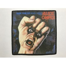 ALICE COOPER patch printed Raise Your Fist and Yell