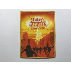 NUCLEAR ASSAULT patch printed Game Over