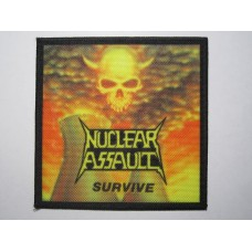 NUCLEAR ASSAULT patch printed Survive