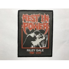 POWER TRIP patch printed Riley Gale Rest In Power
