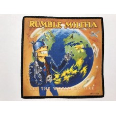 RUMBLE MILITIA patch printed Set The World On Fire