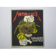 METALLICA patch rubber Damaged Justice