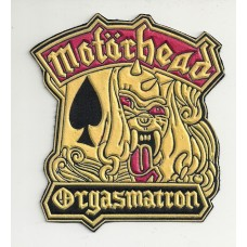 MOTORHEAD patch rubber Orgasmatron