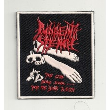 PUNGENT STENCH patch rubber For God Your Soul For Me Your Flesh